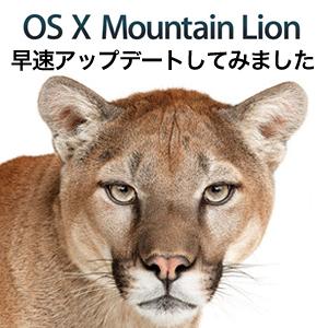 2012年7月25日にMac App Storeより世界公開されたMacの最新オペレーティングシステム OS X Mountain Lion