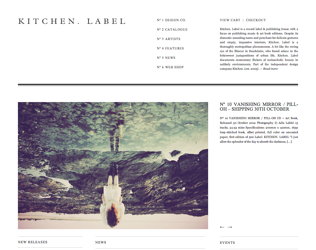 KITCHEN LABEL — music   art book editions