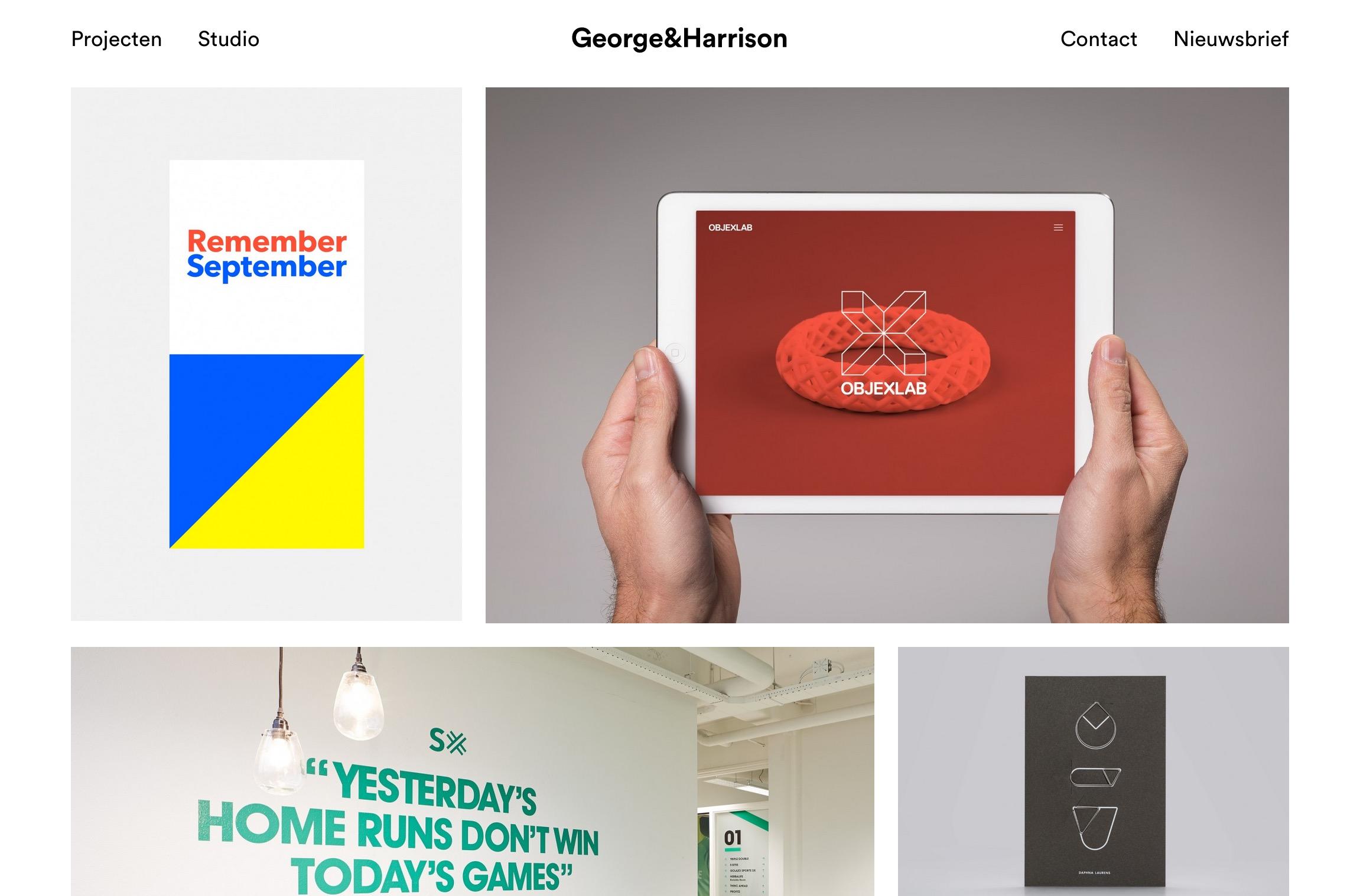 George   Harrison   Creatief   effectief  klein   ambitieus  analytisch   Intuïtief. We zijn een in Eindhoven gevestigde studio  gespecialiseerd in ontwerp voor print en web.