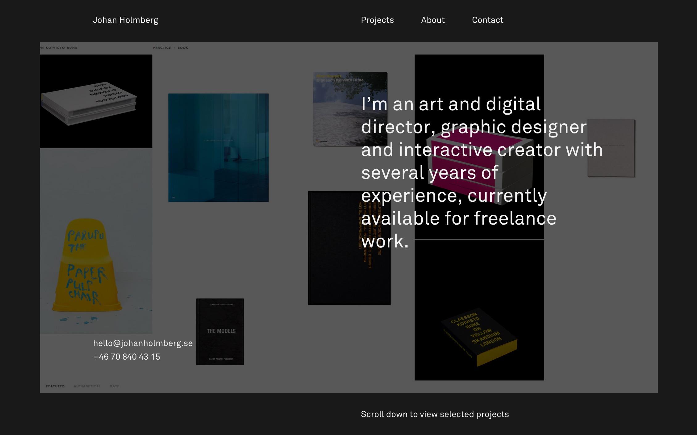 Johan Holmberg –Art and digital director  graphic designer and interactive creator