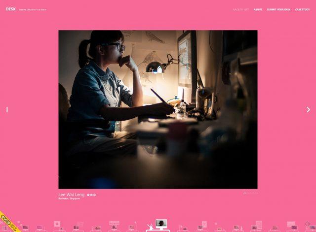 DESKより | シンガポールのイラストレーター Lee Wai Langさんのおしゃれなデスク周り