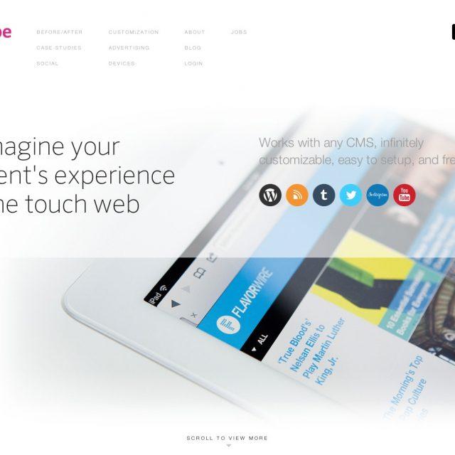 Onswipe | iPadやiPhoneの雑誌レイアウトにデザインするおしゃれなWordPressプラグイン | WordPress