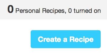 「Create a Recipe」をクリック。