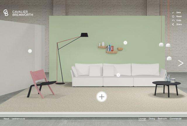 インテリアの配色を3Dで簡単にシミュレーションできる海外のサイト The Studio Floor