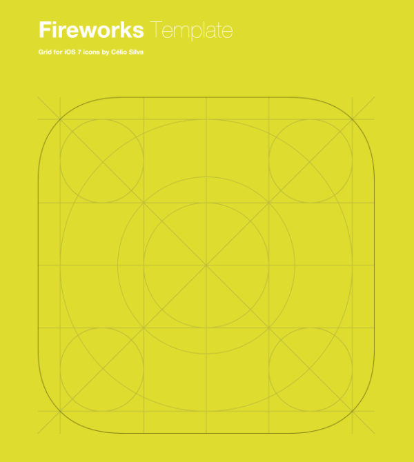 Template for iOS 7 App Icons (Fireworks)