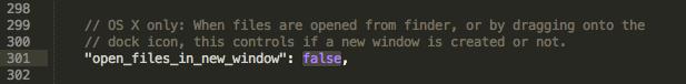 Sublime Text 2 ファイルを開くとき新規ウィンドウでなく新規タブで開くようにする設定方法