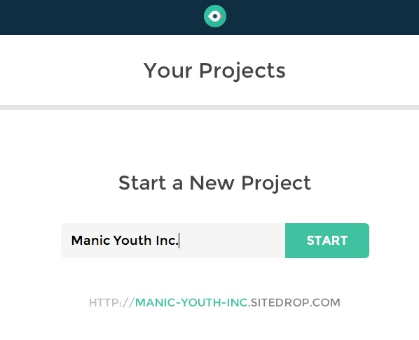 Sitedrop Start a New Project