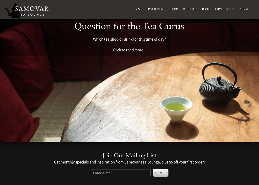 Visit Samovar Tea Lounge In San Francisco   Buy Tea Online   Read Our Blog