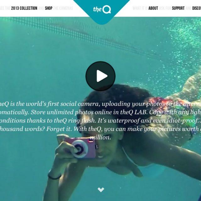海外の防水トイデジカメ『theQ camera』のサイトデザインがおもしろい! | イケてるサイト