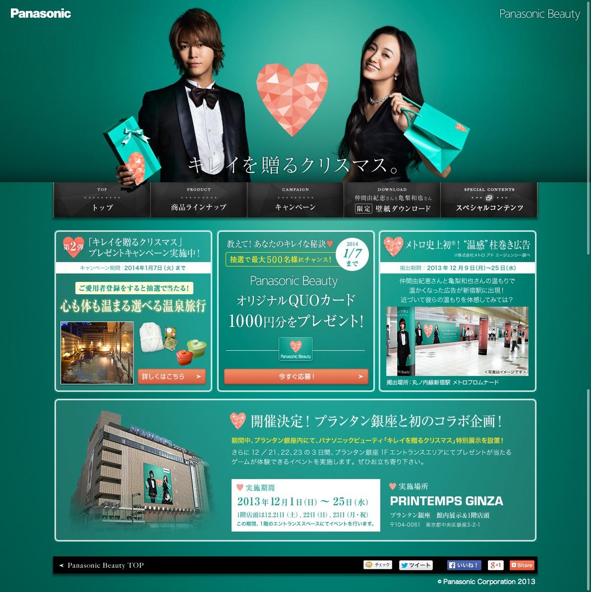 Panasonic Beauty Xmas 2013