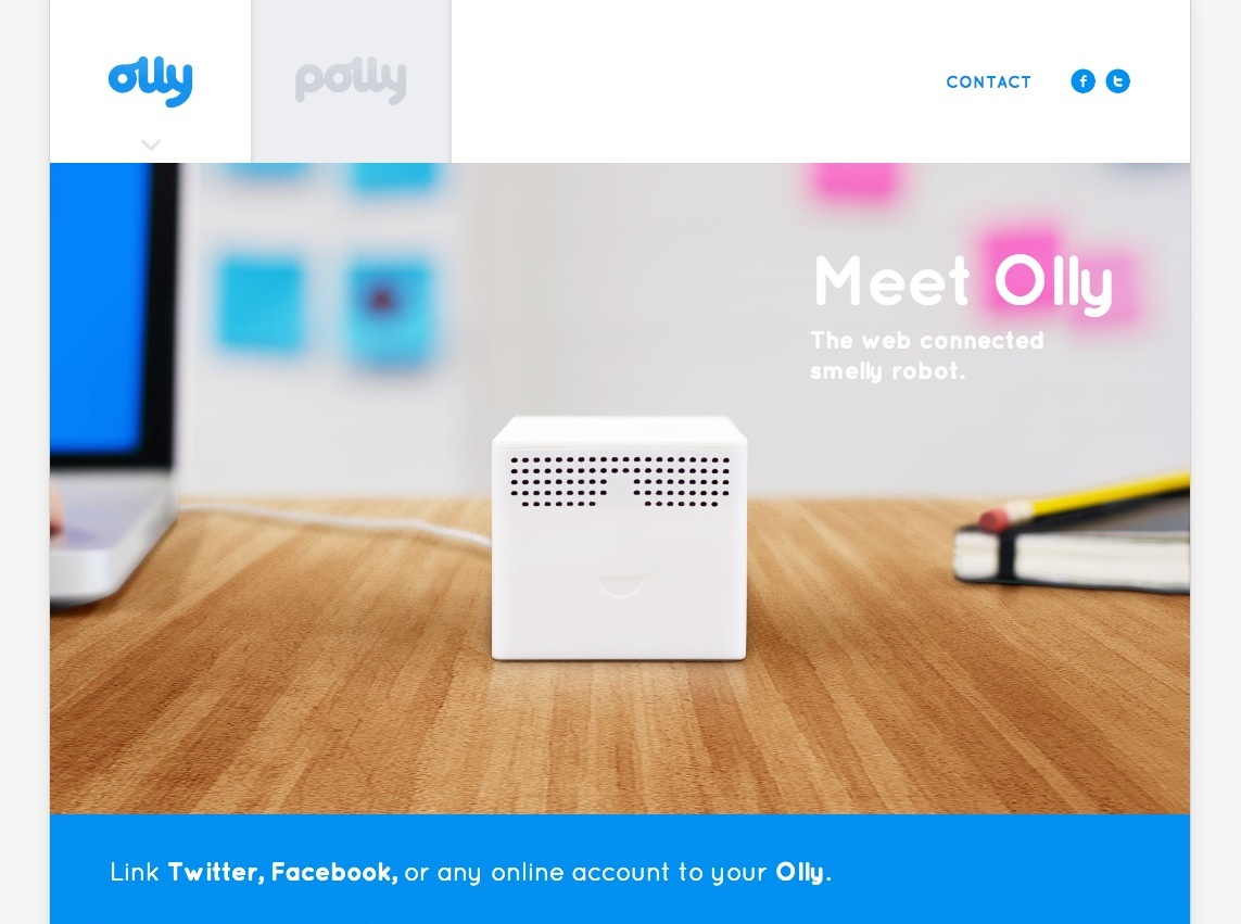 Olly - The Web Connected Smelly Robot