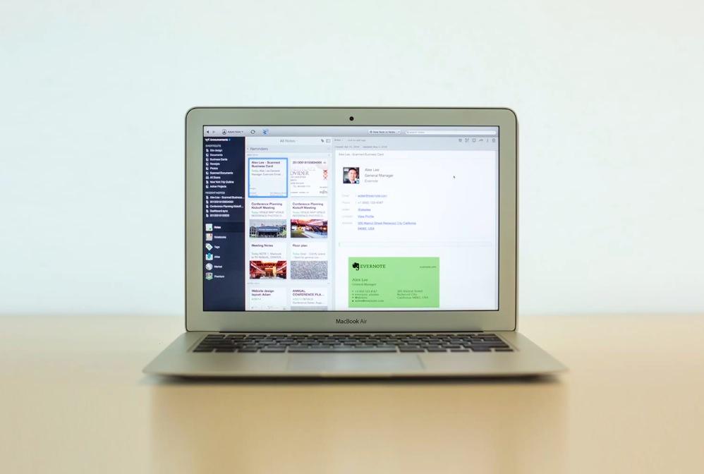 Evernote 名刺スキャンと LinkedIn が連携でプロフィール管理が便利に