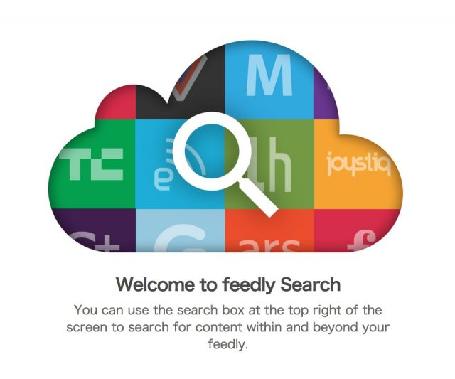 feedly Pro New Search Visual