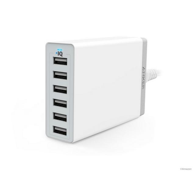本日発売でベストセラー! Anker 60W 6ポート USB急速充電器