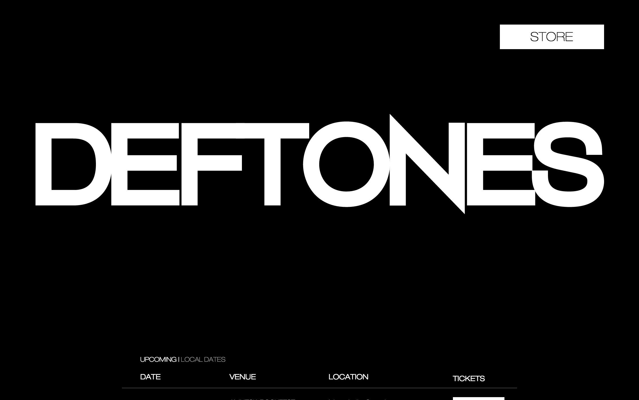 デフトーンズ海外公式サイト