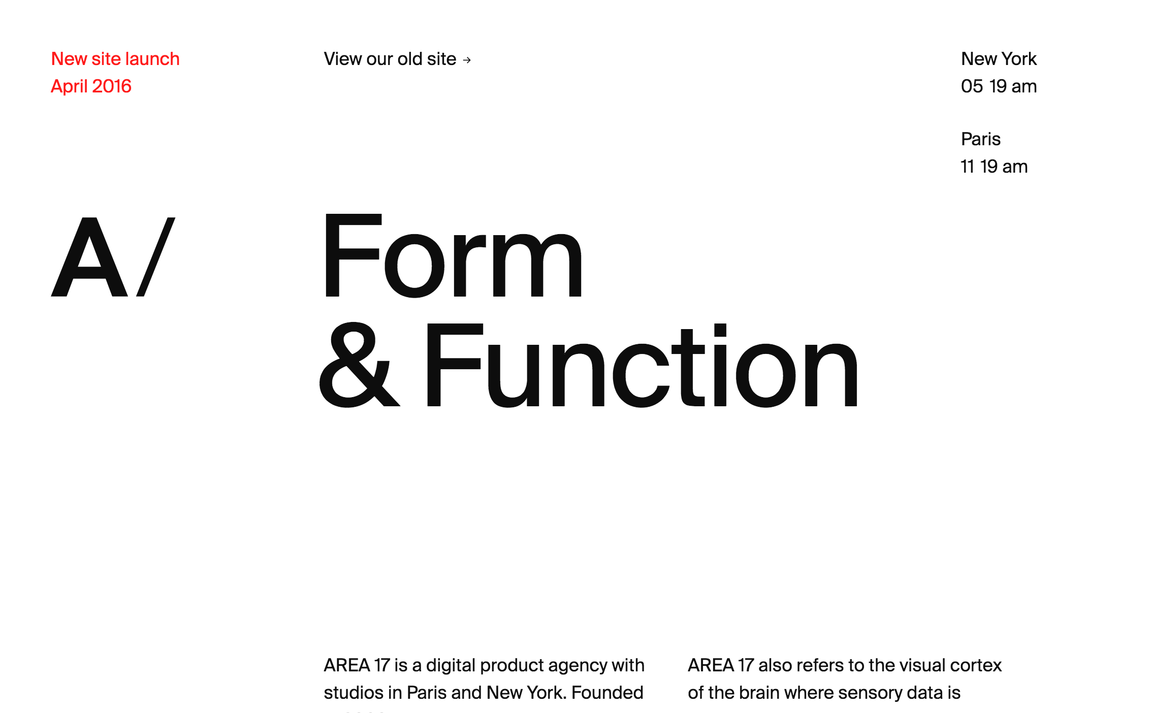 AREA 17 — A digital product agency