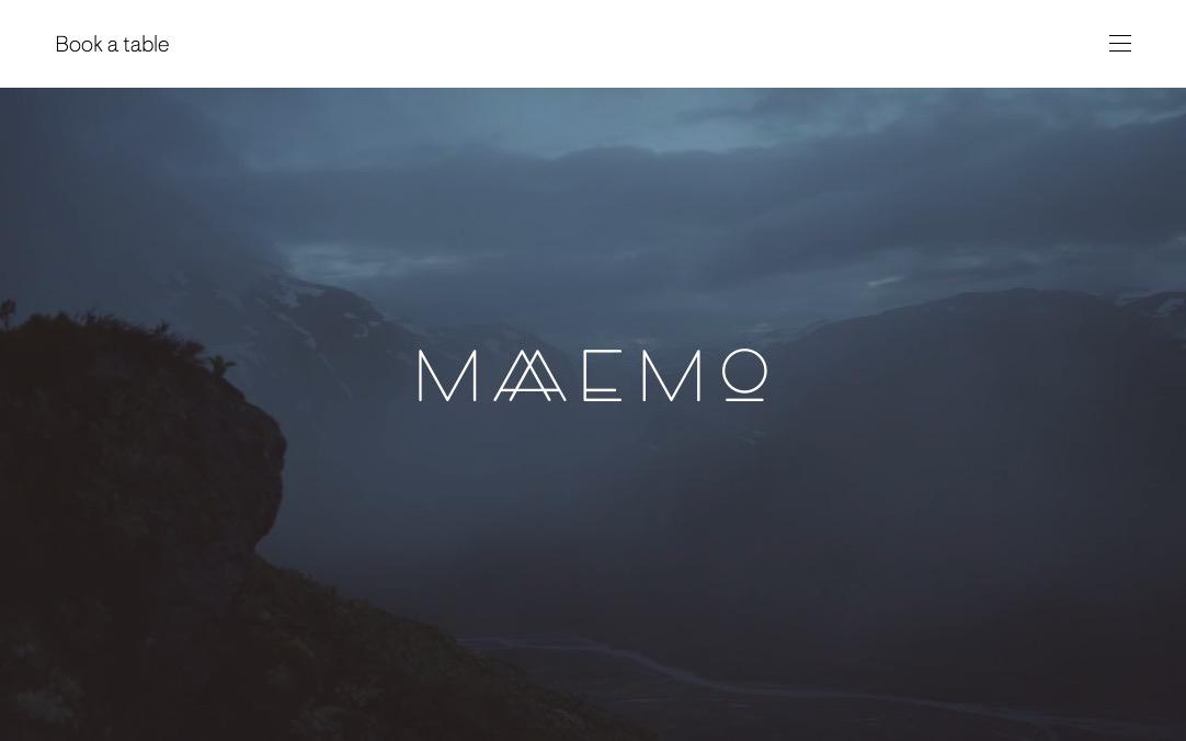 Maaemo Restaurant – Maaemo