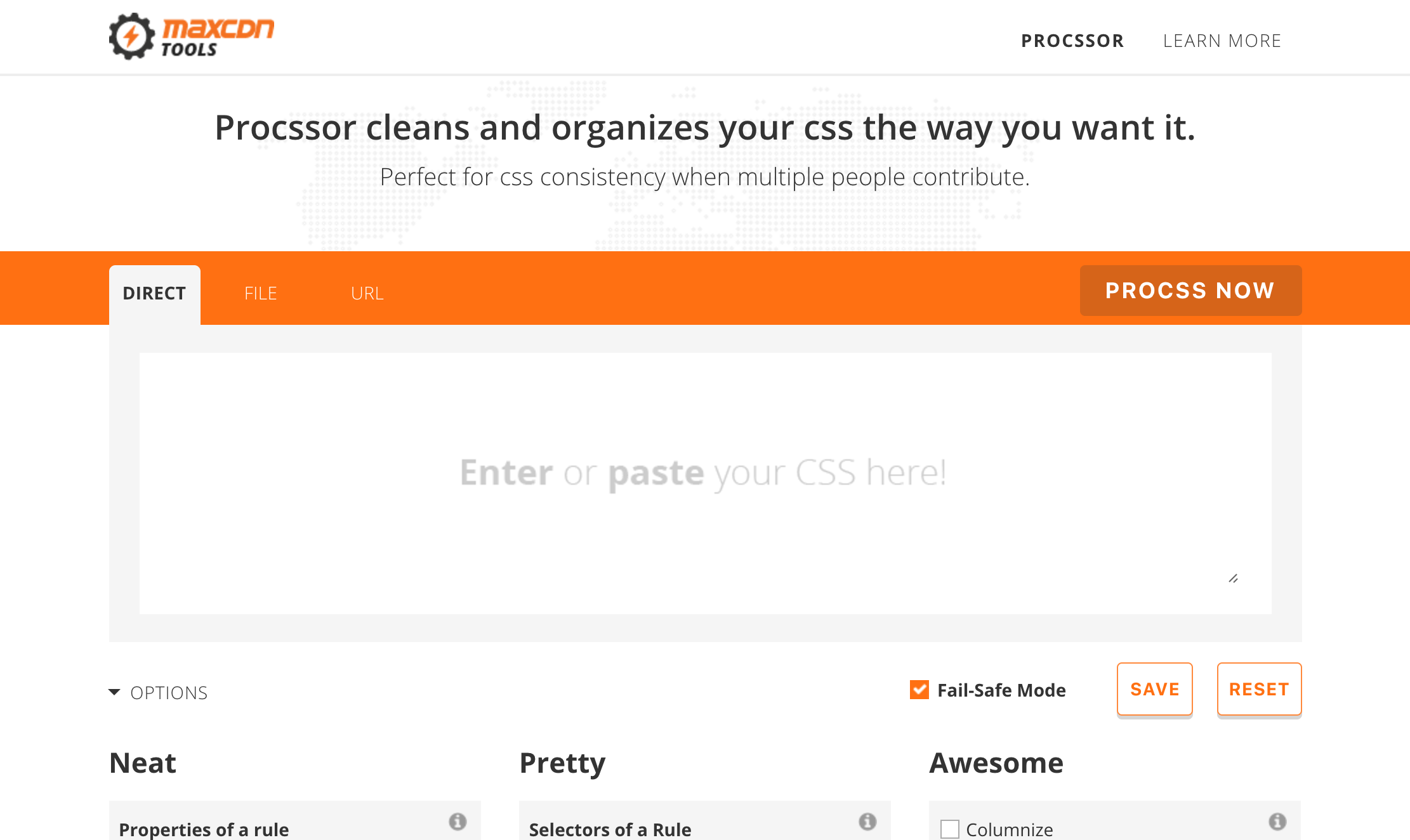 maxcdn-tools-procssor-advanced-css-prettifier