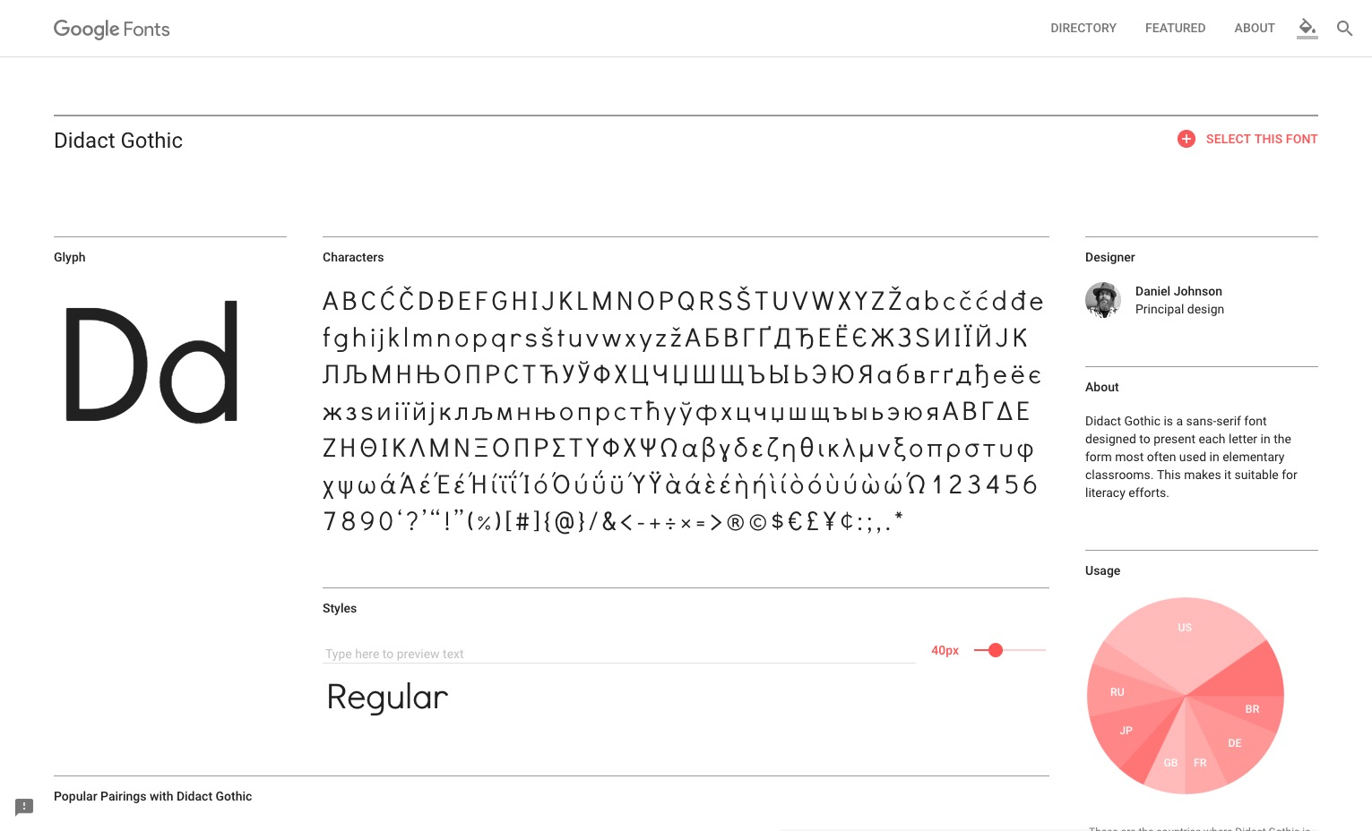 Didact Gothic Google Fonts