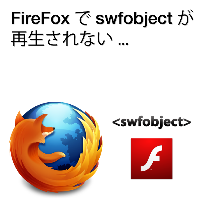 FireFoxでswfobject.jsが 再生されないエラー