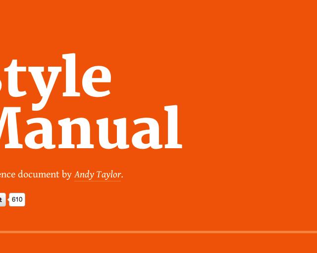 Style Manual   オレンジにタイポグラフィーが印象的なサイト【オススメサイト】
