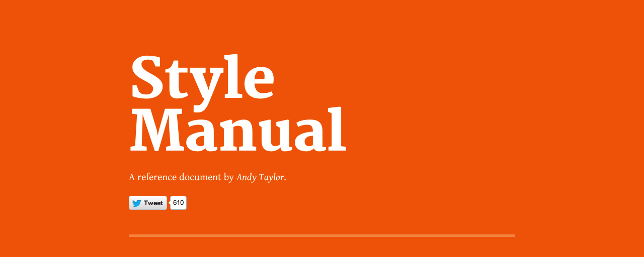 Style Manual | オレンジにタイポグラフィーが印象的なサイト【オススメサイト】