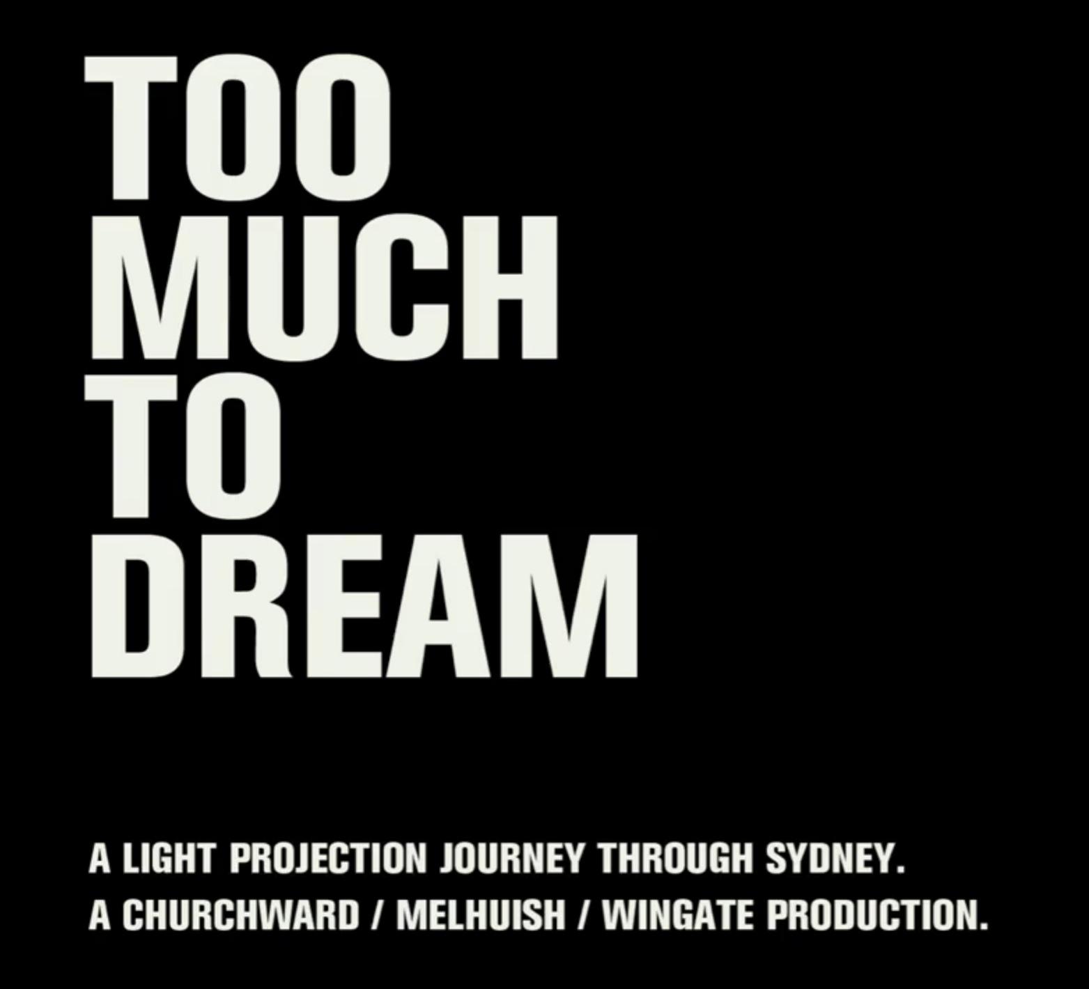 短編フィルム「TOO MUCH TO DREAM」   シドニーを徘徊する美しいタイピング