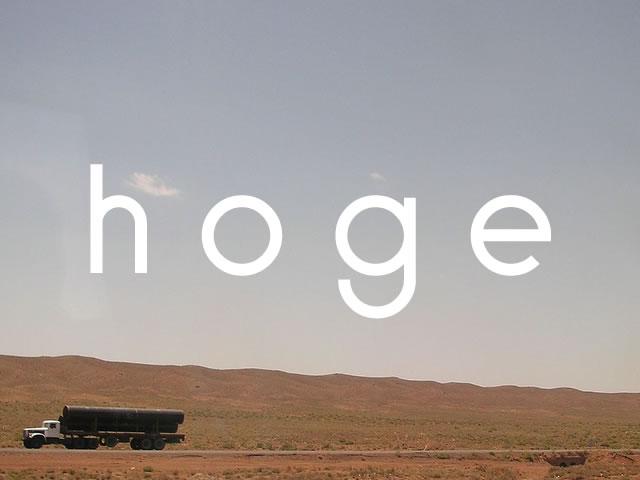 hoge(ほげ)の意味   とくに意味もないときに使う変数名