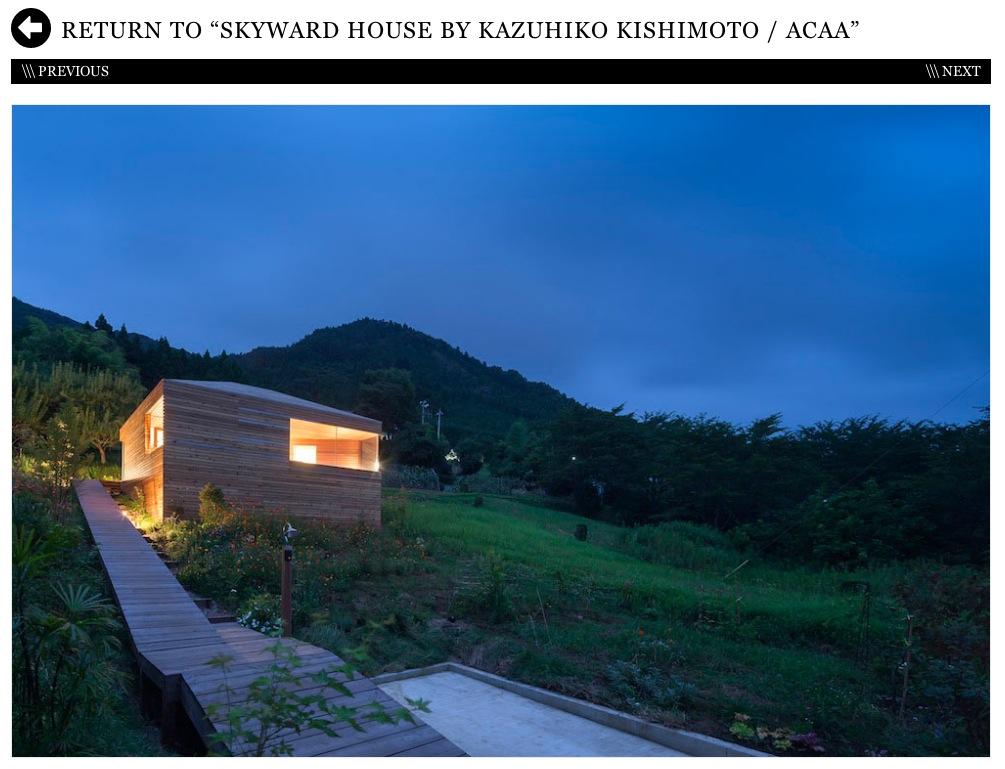 Design Milkより「Skyward House」by Kazuhiko Kishimoto