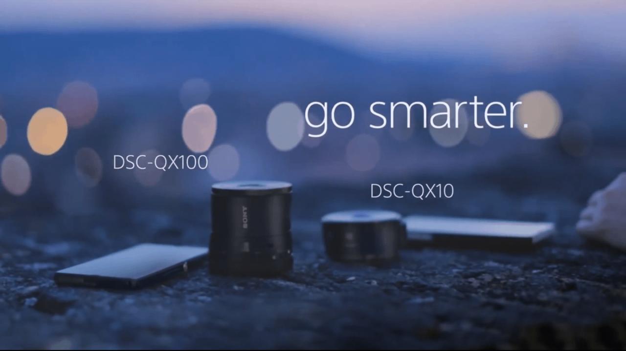 ソニーの新商品 スマホ装着レンズ QX100 and QX10 のムービーが素敵