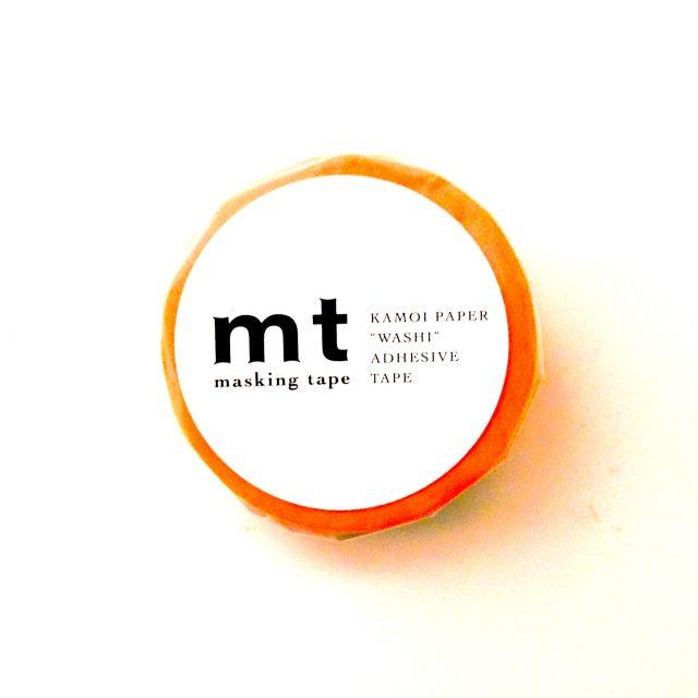 mtマスキングテープを買いました、蛍光オレンジが一番使いやすいね!