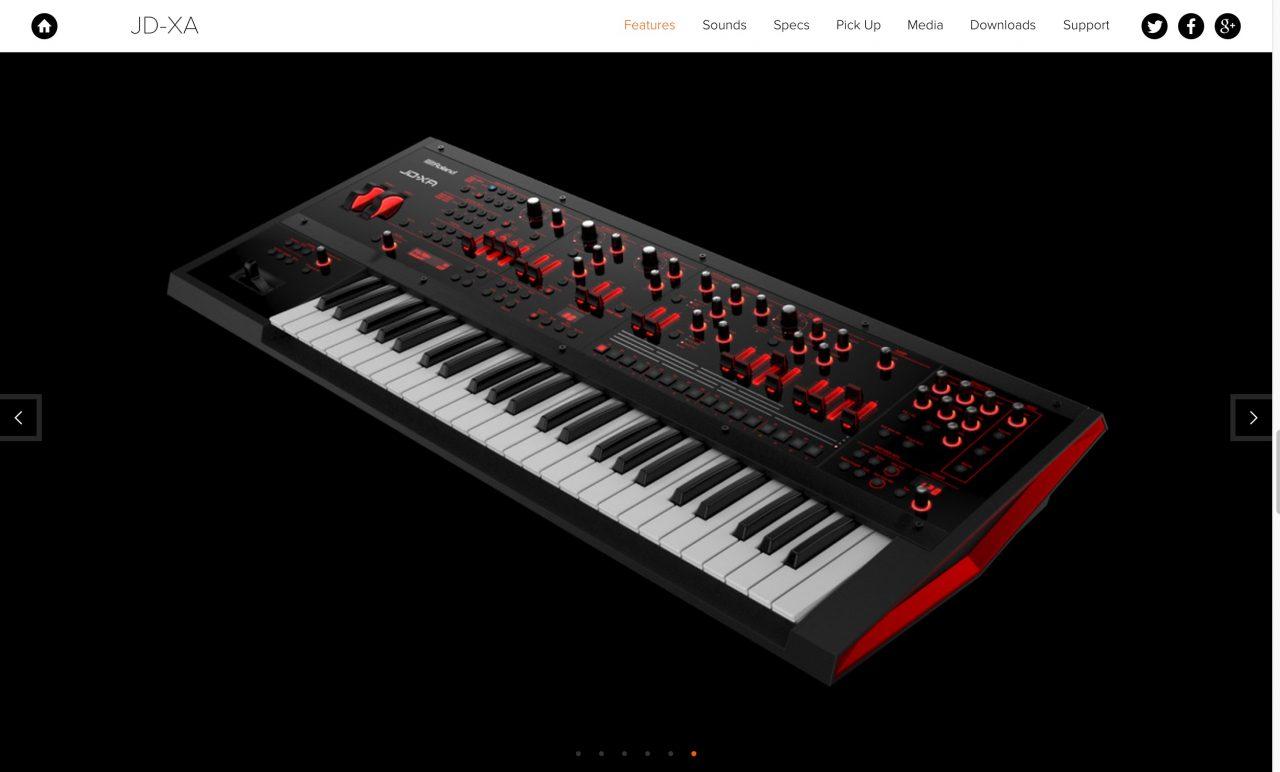 Roland JD XA Analog Digital Crossover Synthesizer1